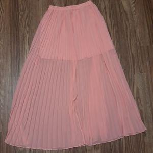 Victoria Secret sheer pleated maxi skirt size 4